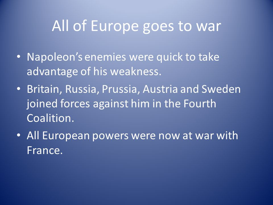 All of Europe goes to war