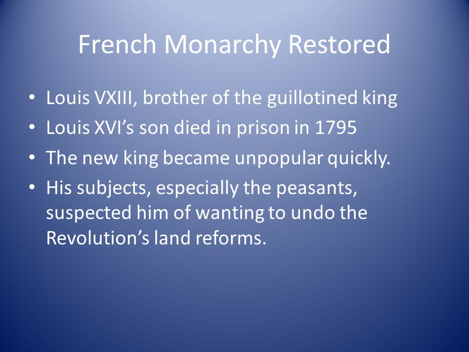 French Monarchy Restored