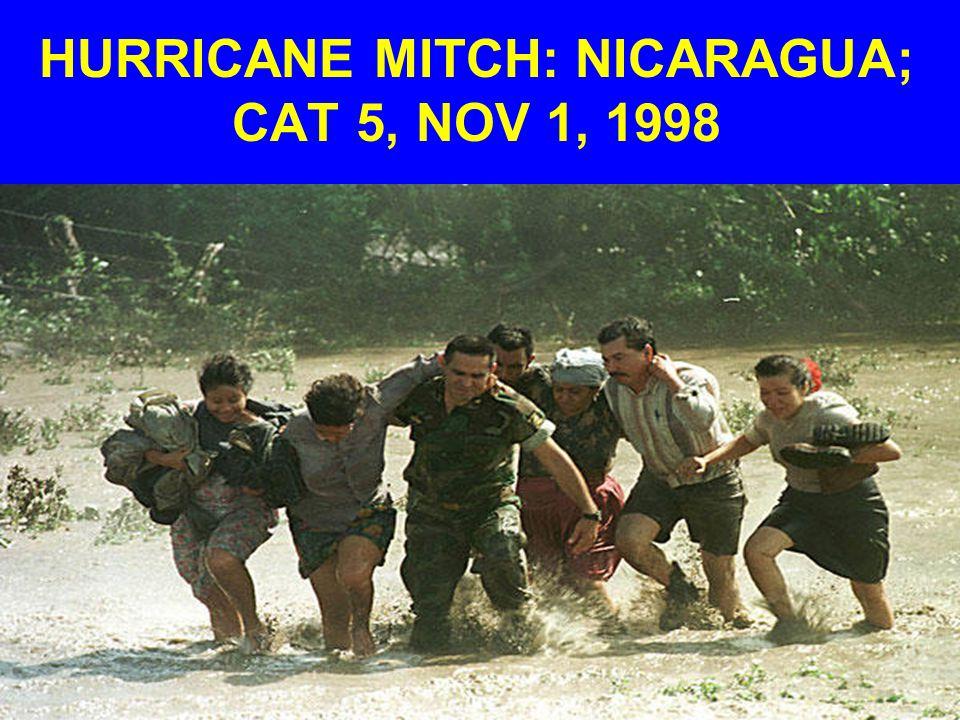 HURRICANE MITCH: NICARAGUA; CAT 5, NOV 1, 1998