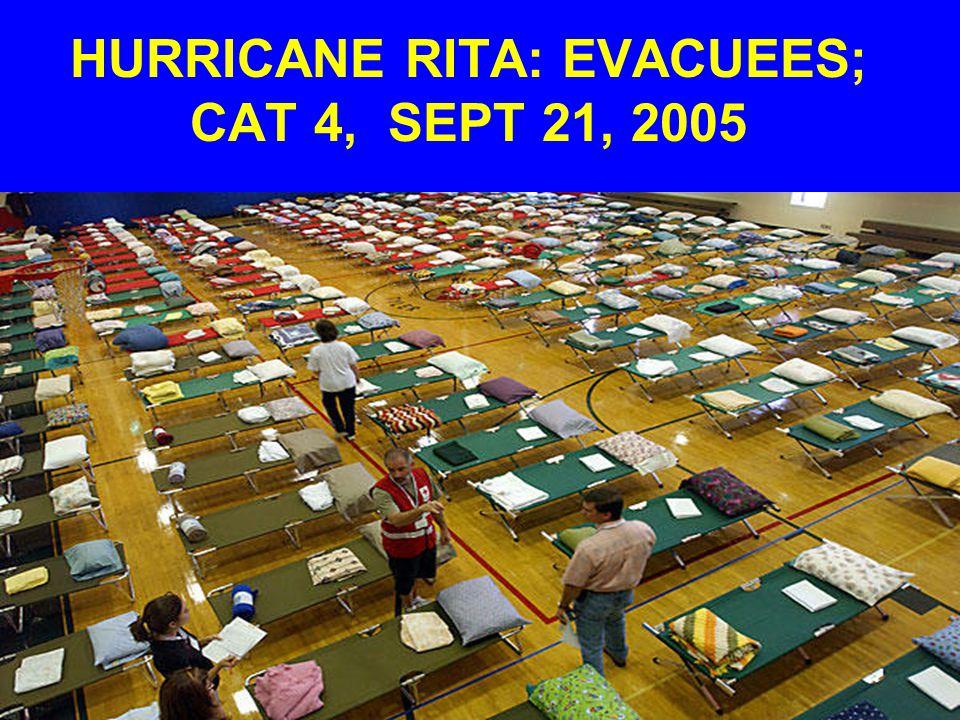 HURRICANE RITA: EVACUEES; CAT 4, SEPT 21, 2005