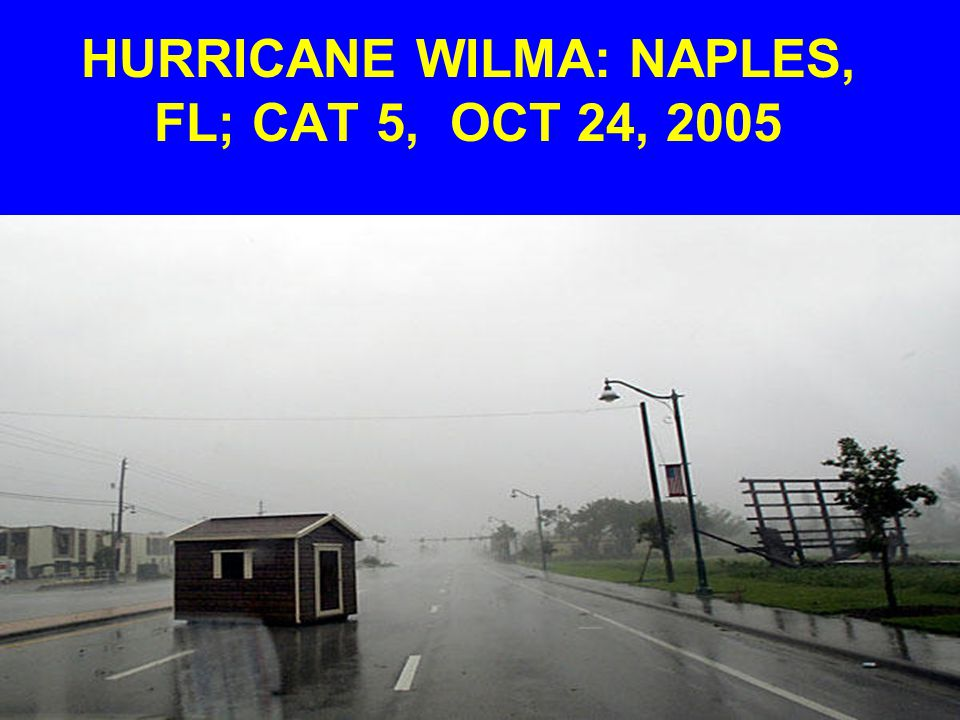 HURRICANE WILMA: NAPLES, FL; CAT 5, OCT 24, 2005