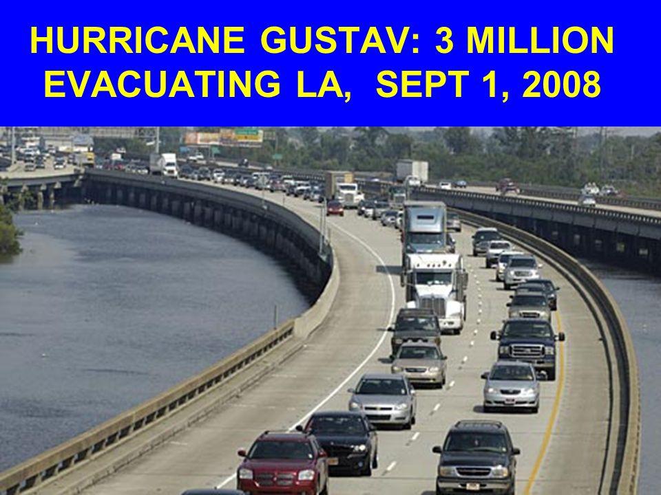 HURRICANE GUSTAV: 3 MILLION EVACUATING LA, SEPT 1, 2008