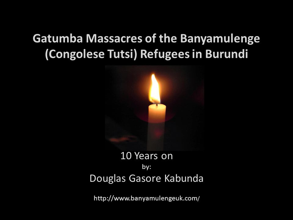 10 Years on by: Douglas Gasore Kabunda http://www.banyamulengeuk.com/
