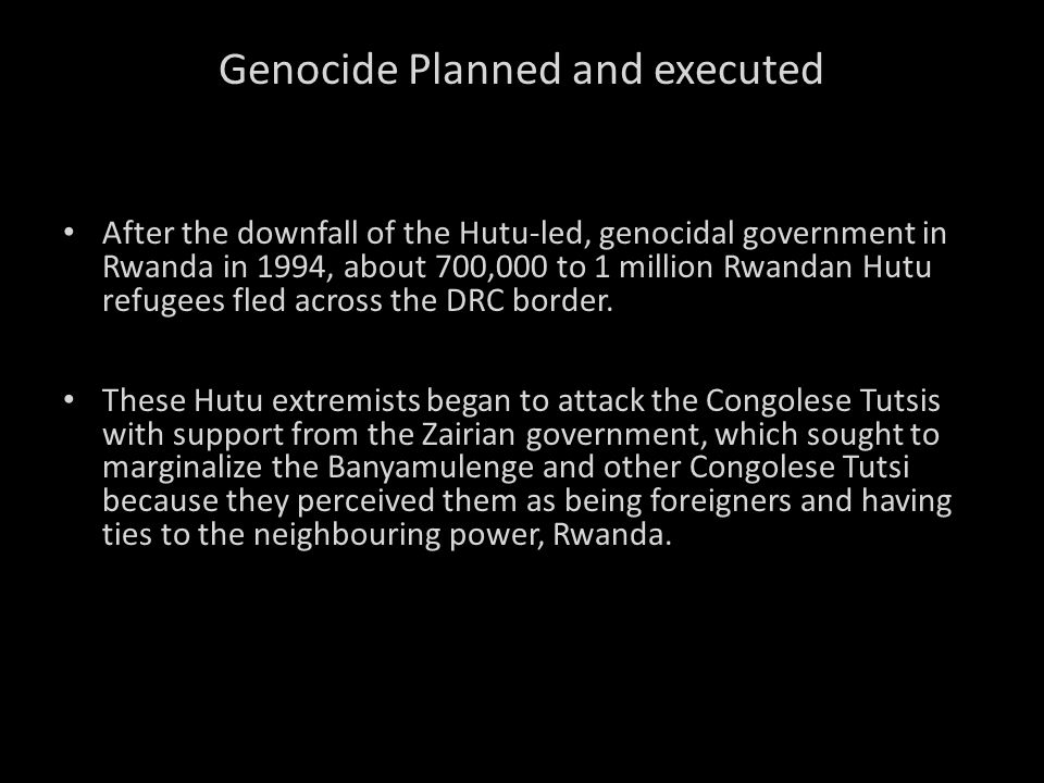 Genocide Planned and executed