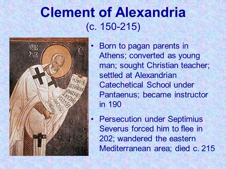 Clement of Alexandria (c. 150-215)