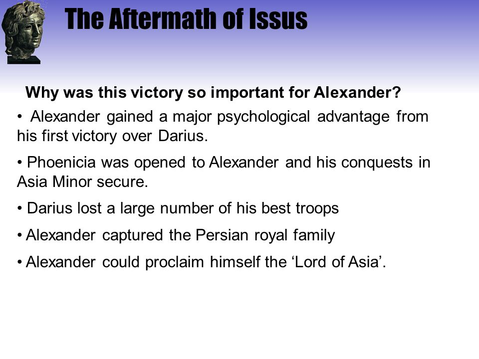 Why was this victory so important for Alexander