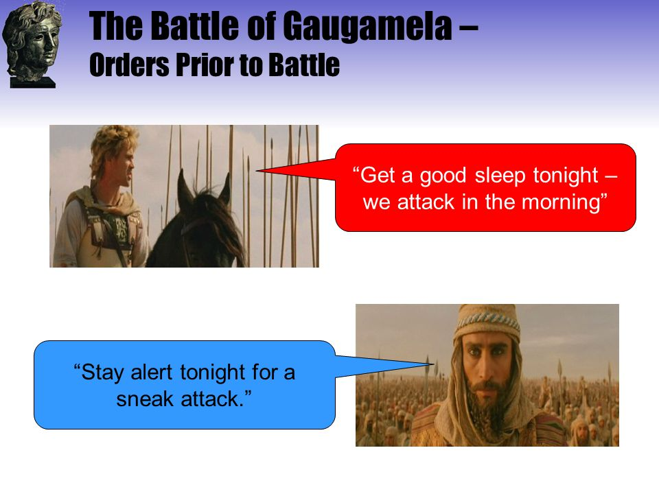 The Battle of Gaugamela – Orders Prior to Battle