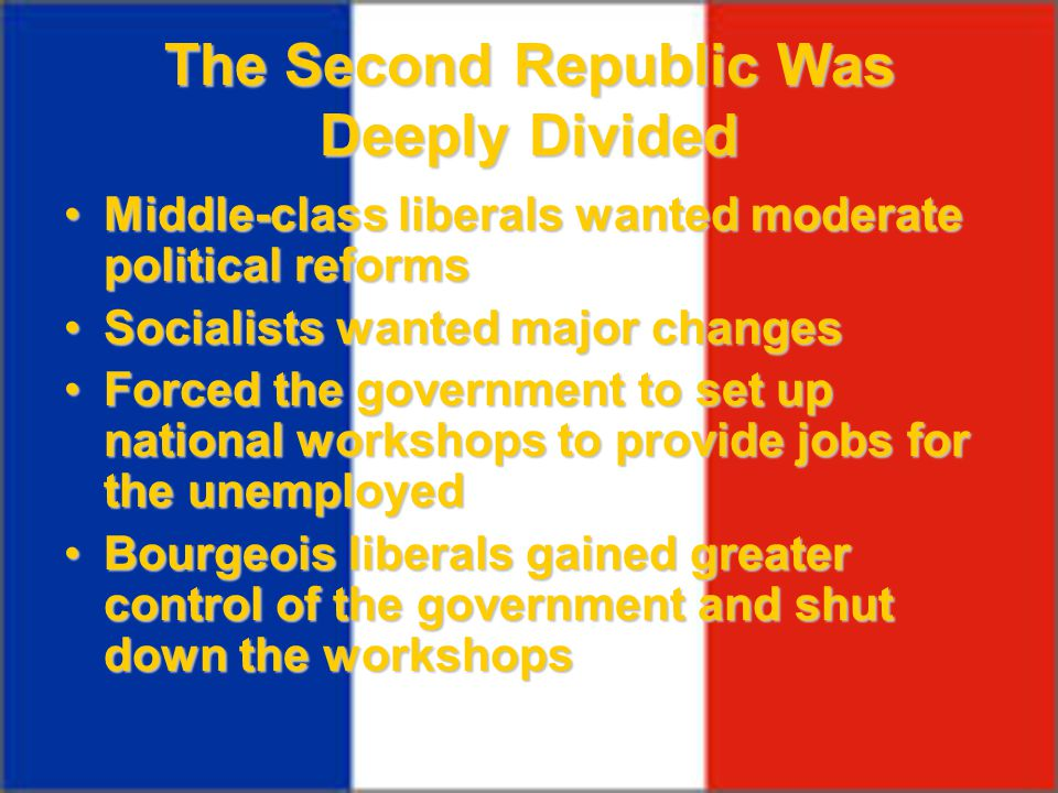 The Second Republic Was Deeply Divided
