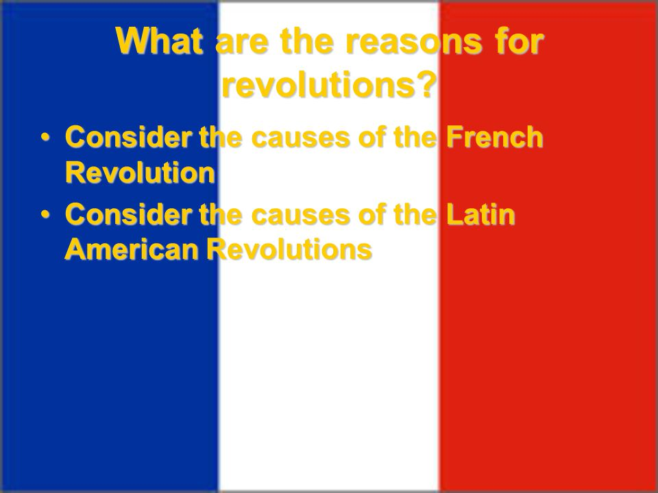 What are the reasons for revolutions