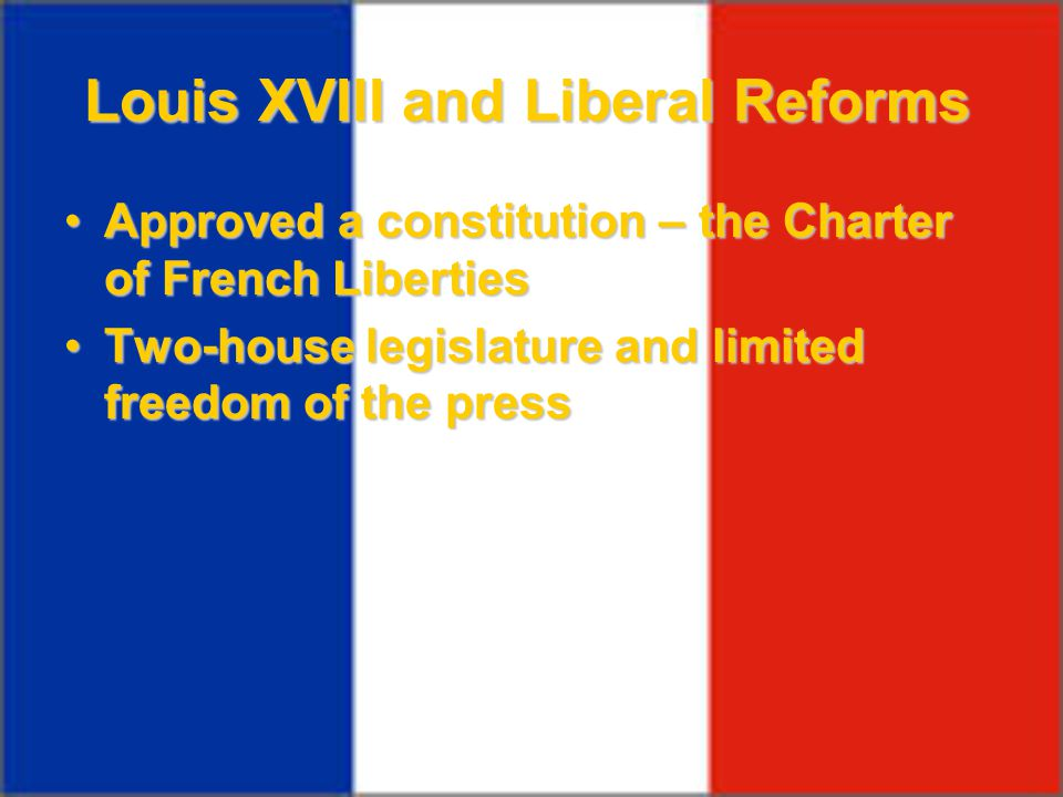 Louis XVIII and Liberal Reforms