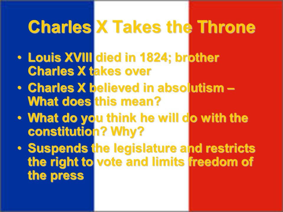 Charles X Takes the Throne