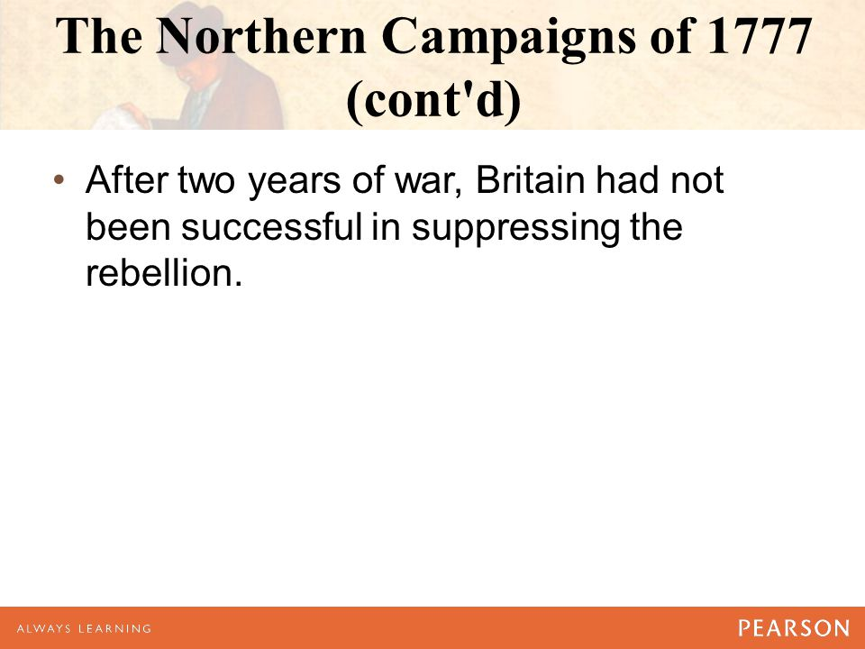 The Northern Campaigns of 1777 (cont d)