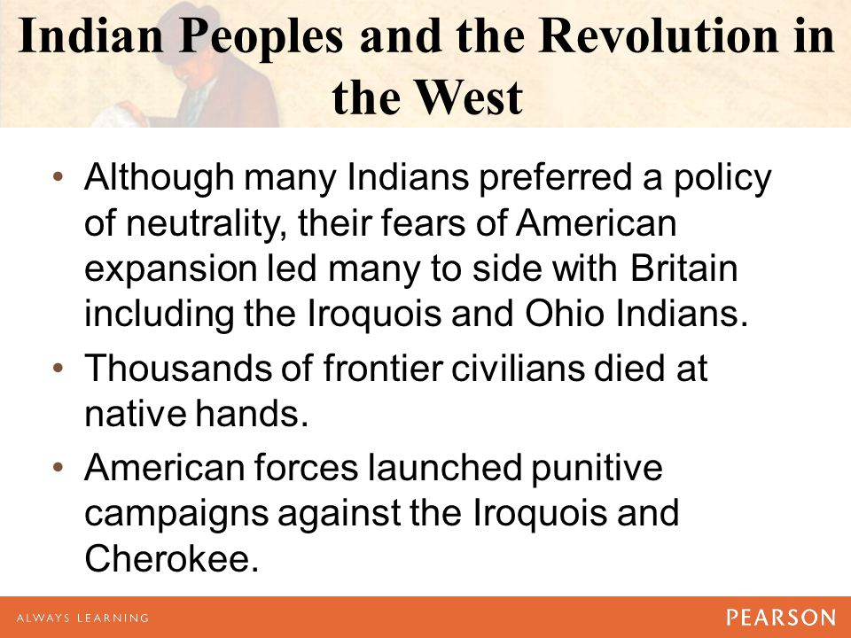Indian Peoples and the Revolution in the West