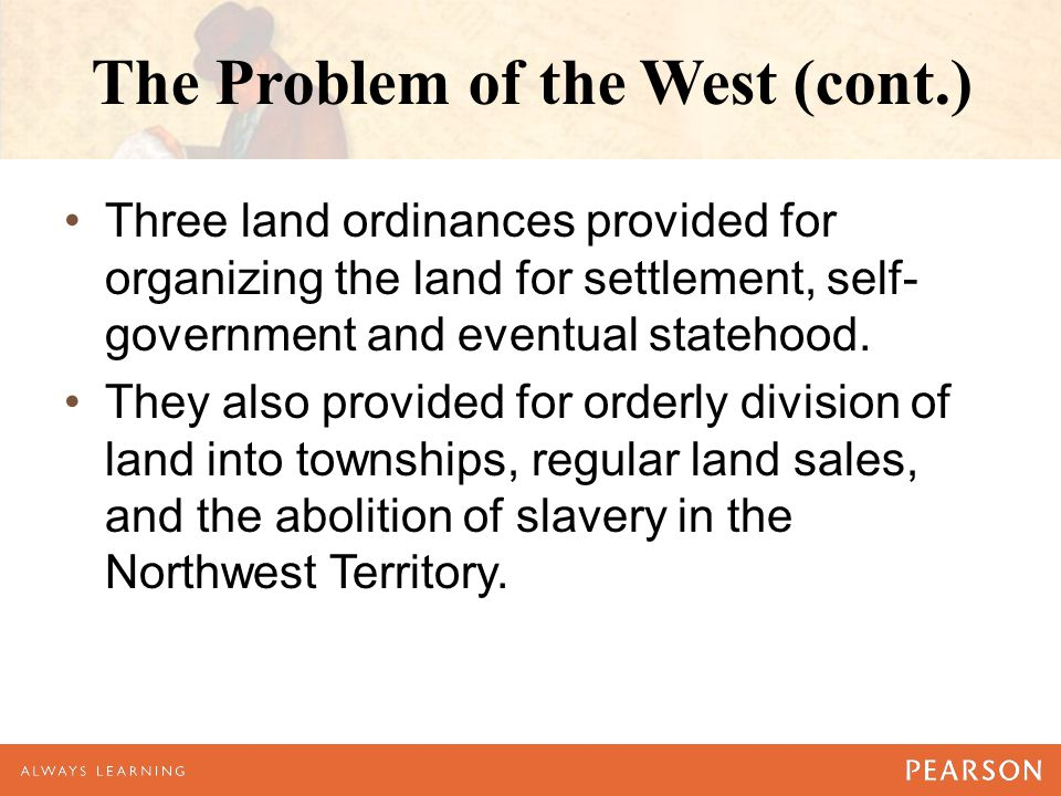 The Problem of the West (cont.)