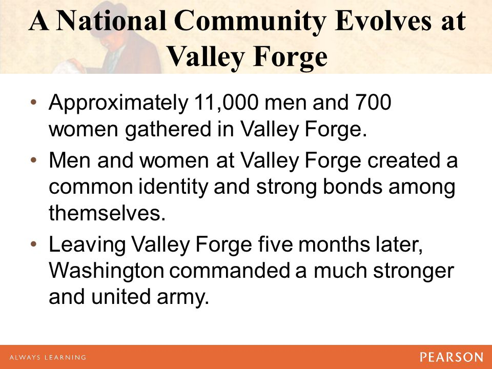 A National Community Evolves at Valley Forge