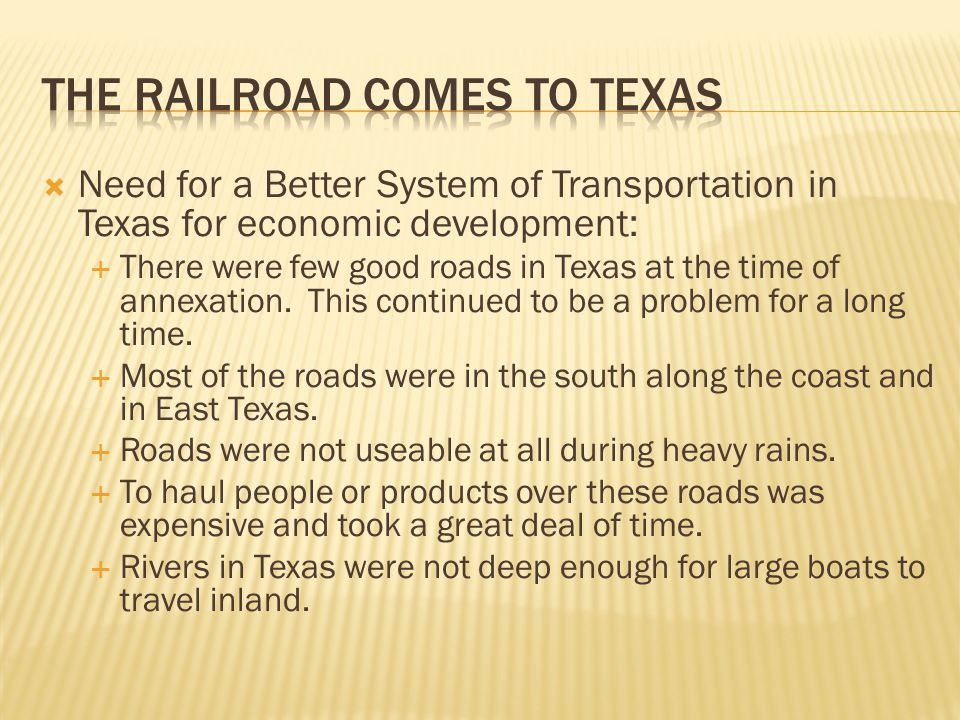 The Railroad Comes to Texas