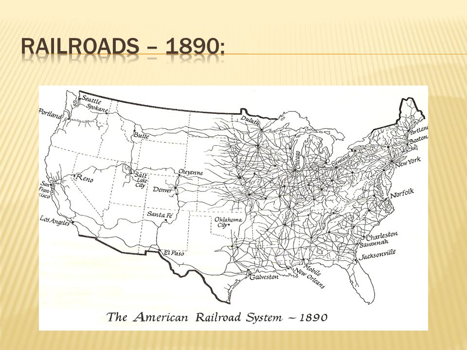 Railroads – 1890:
