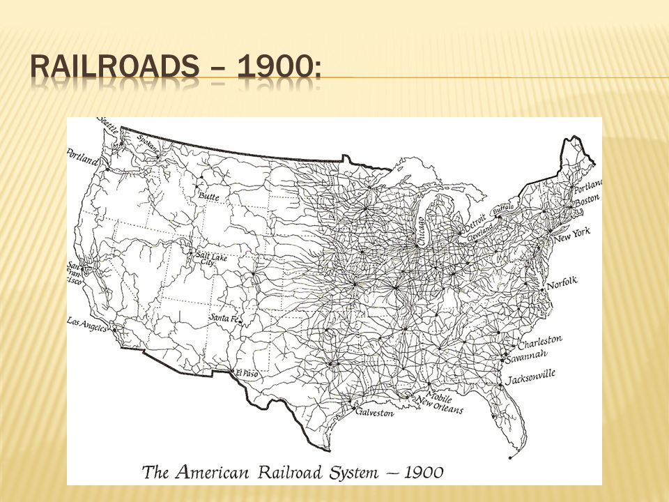 Railroads – 1900: