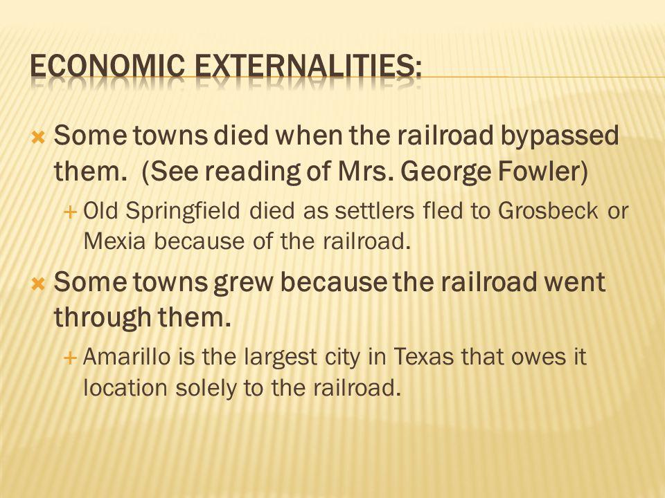 Economic externalities: