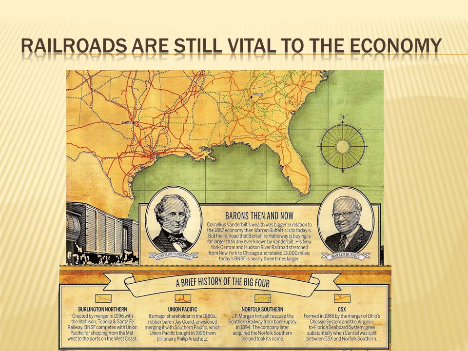 Railroads are still vital to the economy