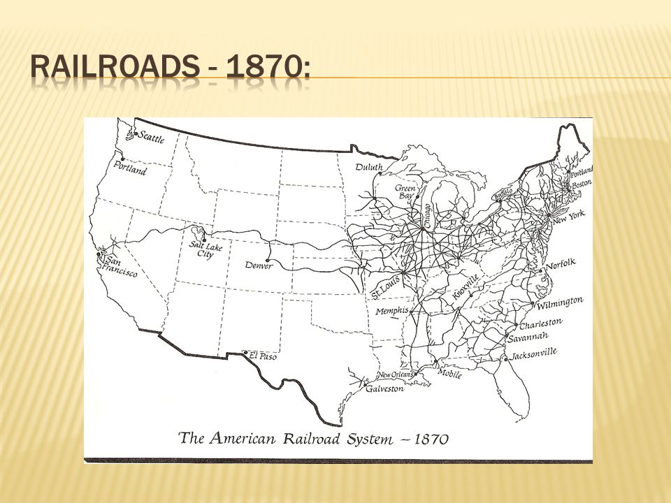 RAILROADS - 1870: