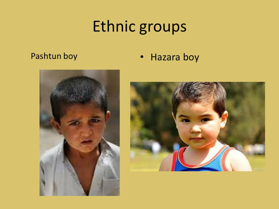 Ethnic groups Pashtun boy Hazara boy