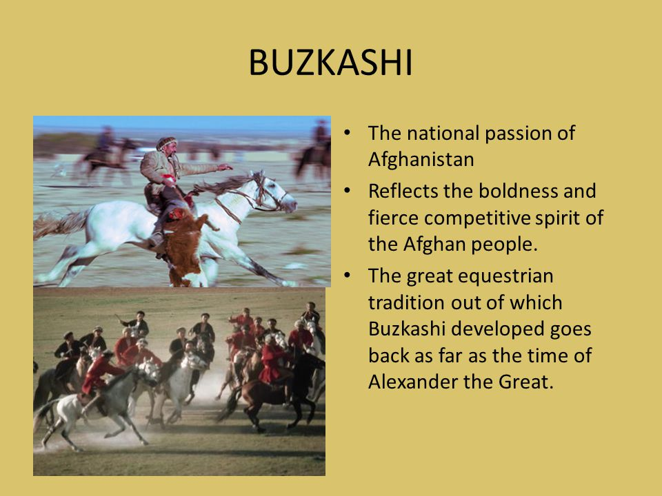 BUZKASHI The national passion of Afghanistan