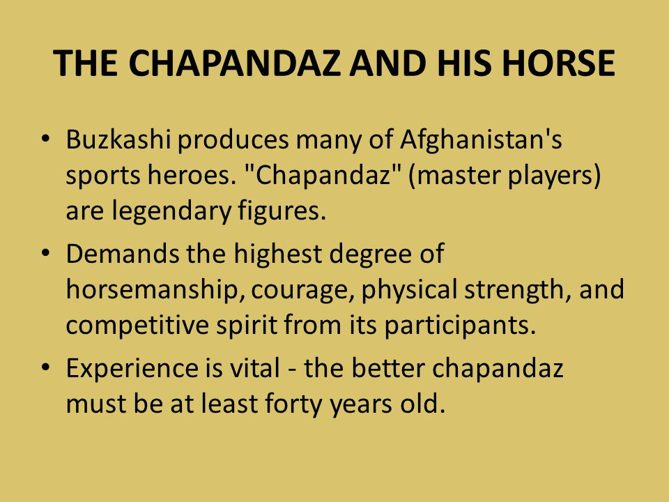 THE CHAPANDAZ AND HIS HORSE