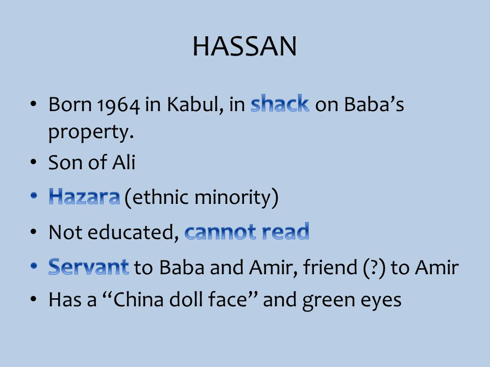 HASSAN Hazara (ethnic minority)