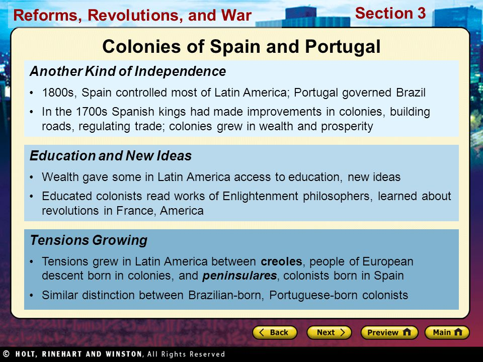 Colonies of Spain and Portugal