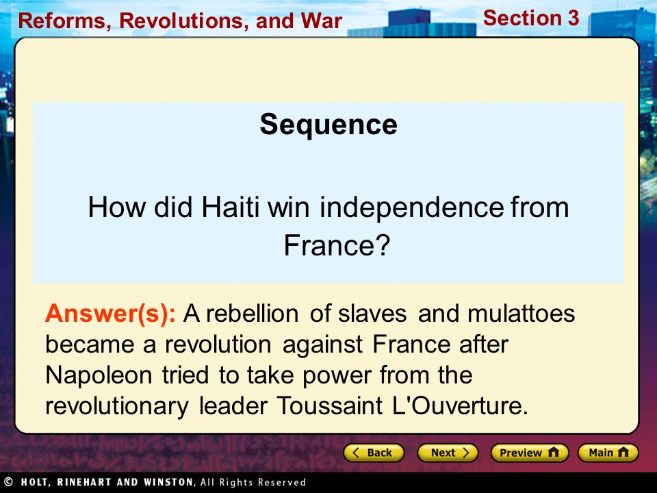 How did Haiti win independence from France