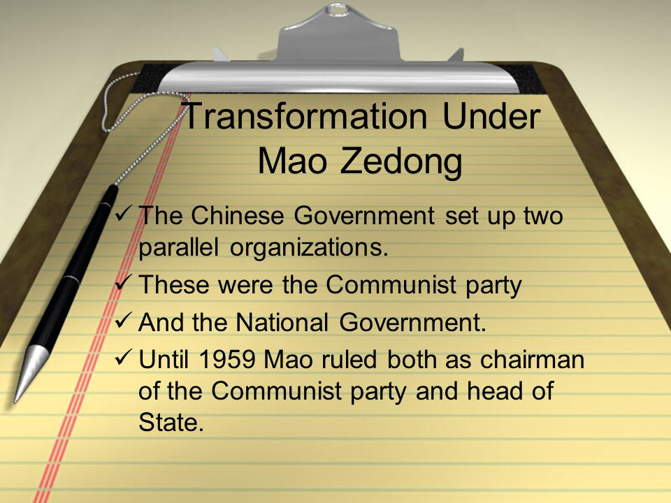 Transformation Under Mao Zedong