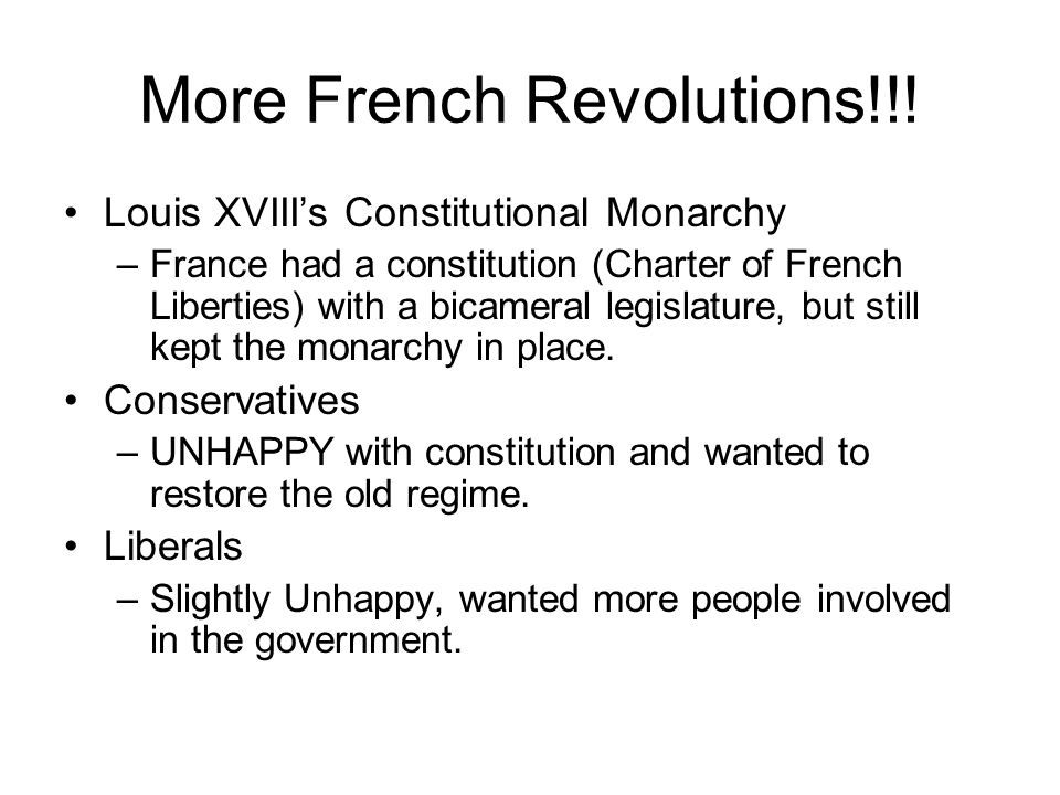 More French Revolutions!!!