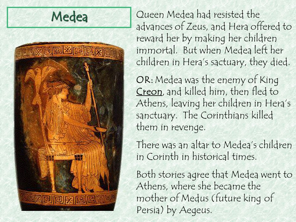 looking for revenge in the story of medea The end of the story of jason, medea, and the argonauts things have been  pretty easy for jason medea solved all of his problems before he.