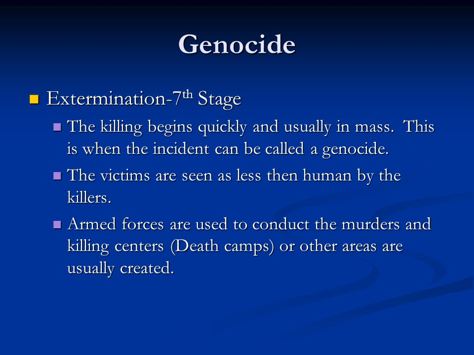 Genocide Extermination-7th Stage