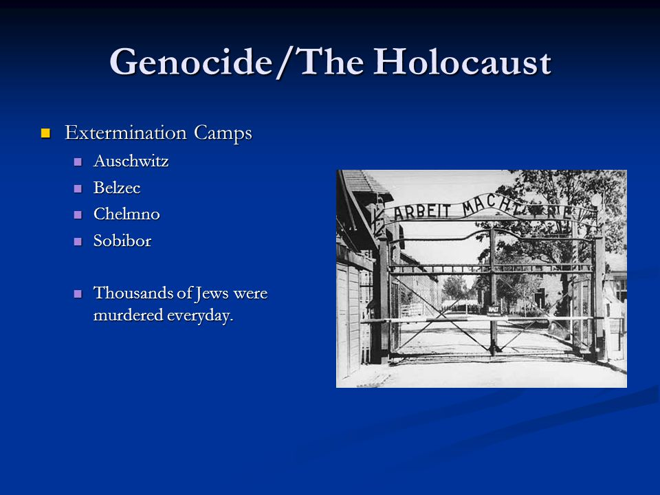Genocide/The Holocaust