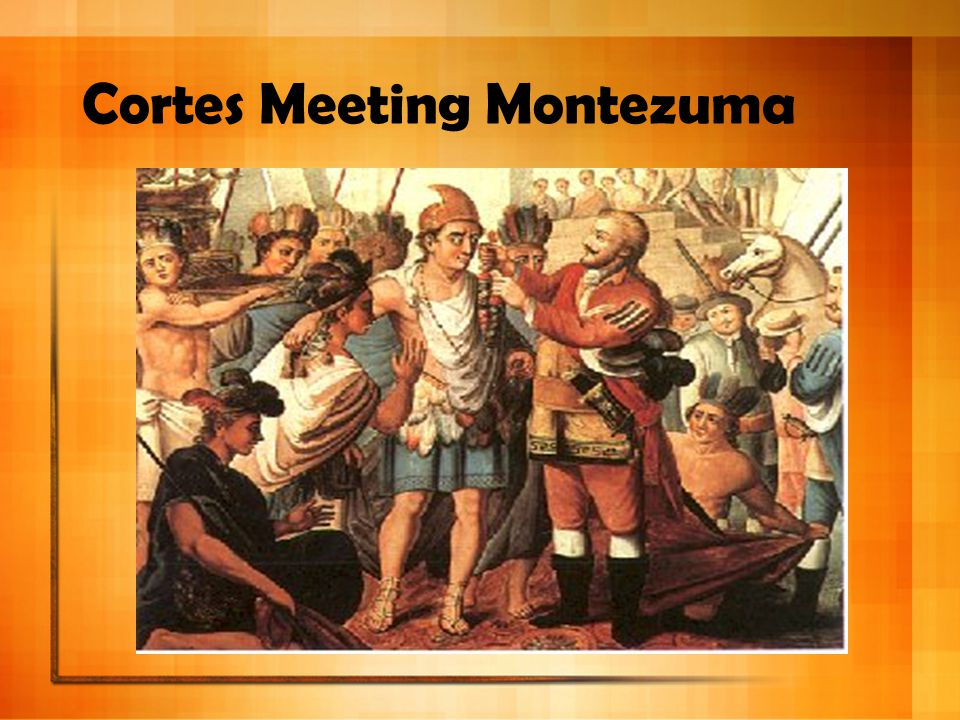 Cortes Meeting Montezuma