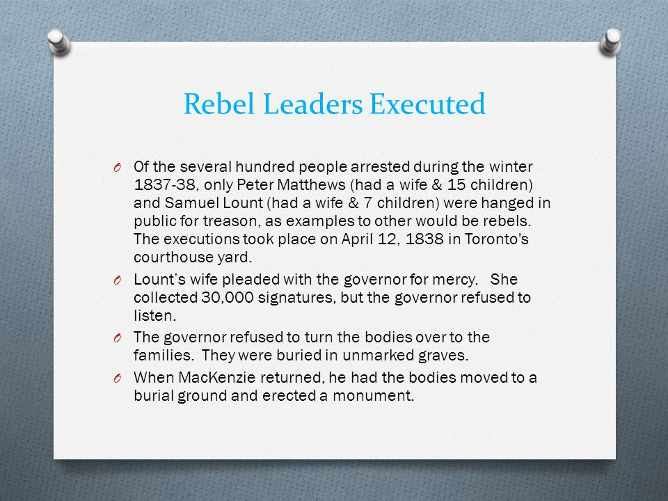 Rebel Leaders Executed