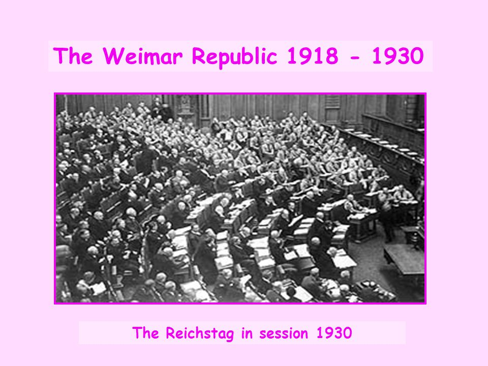 The Reichstag in session 1930