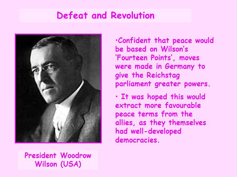 President Woodrow Wilson (USA)