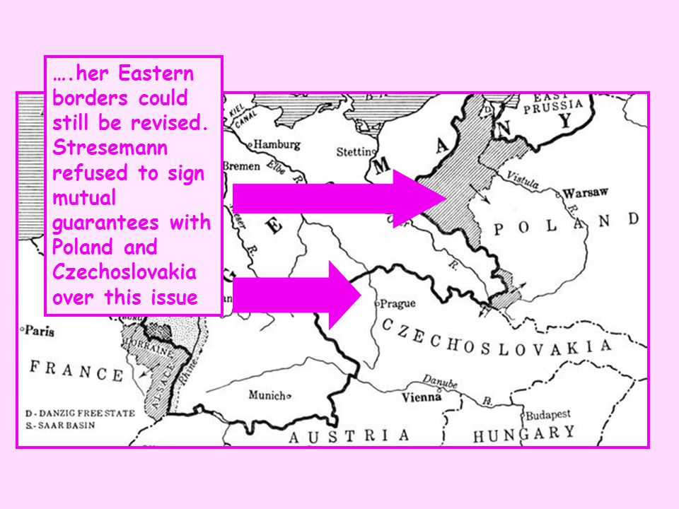 …. her Eastern borders could still be revised