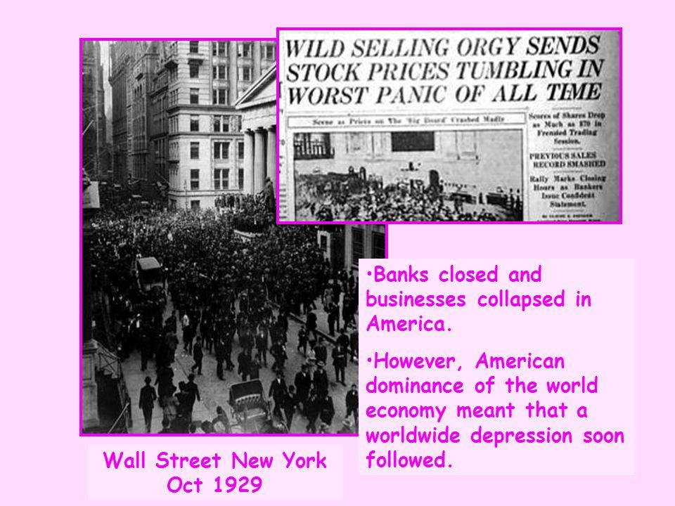 Wall Street New York Oct 1929
