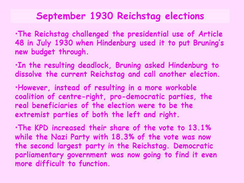 September 1930 Reichstag elections