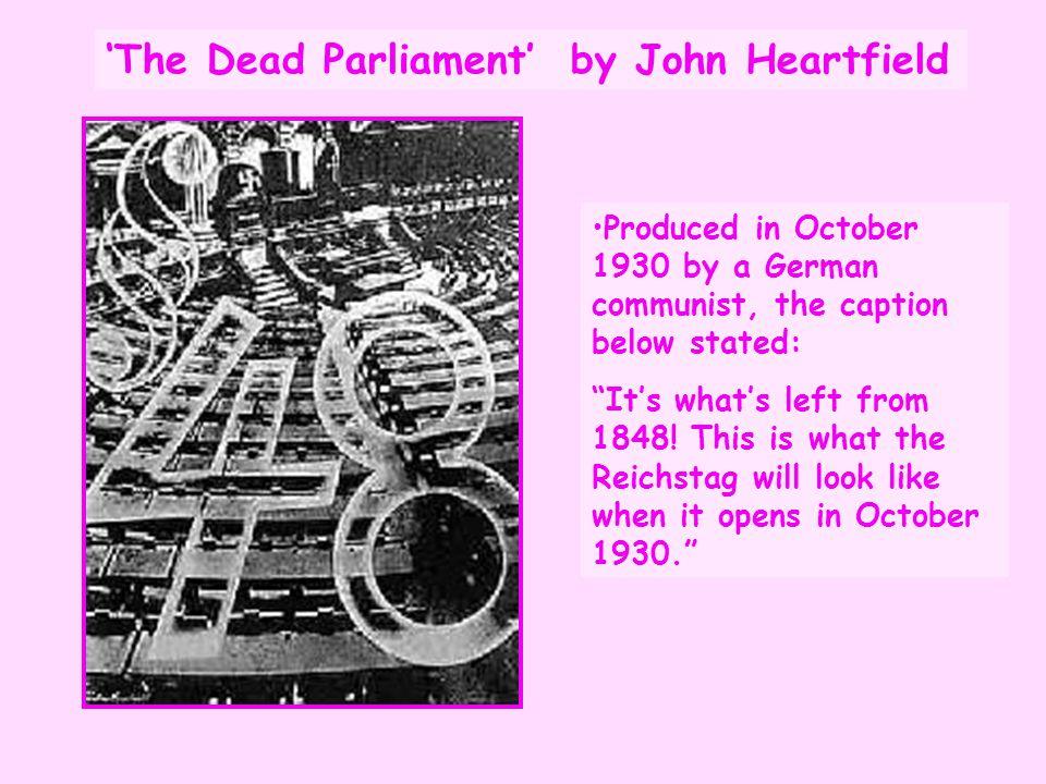 'The Dead Parliament' by John Heartfield
