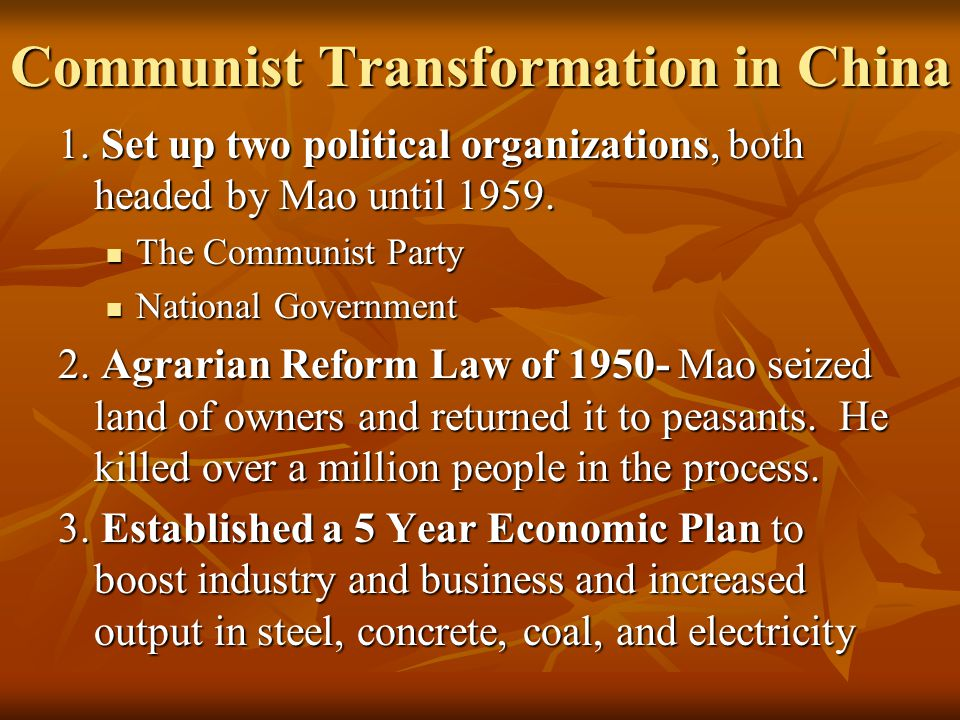 Communist Transformation in China