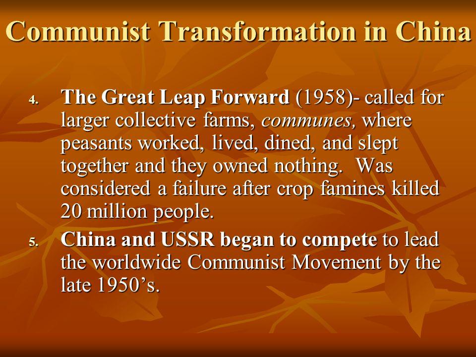 Communist Transformation in China