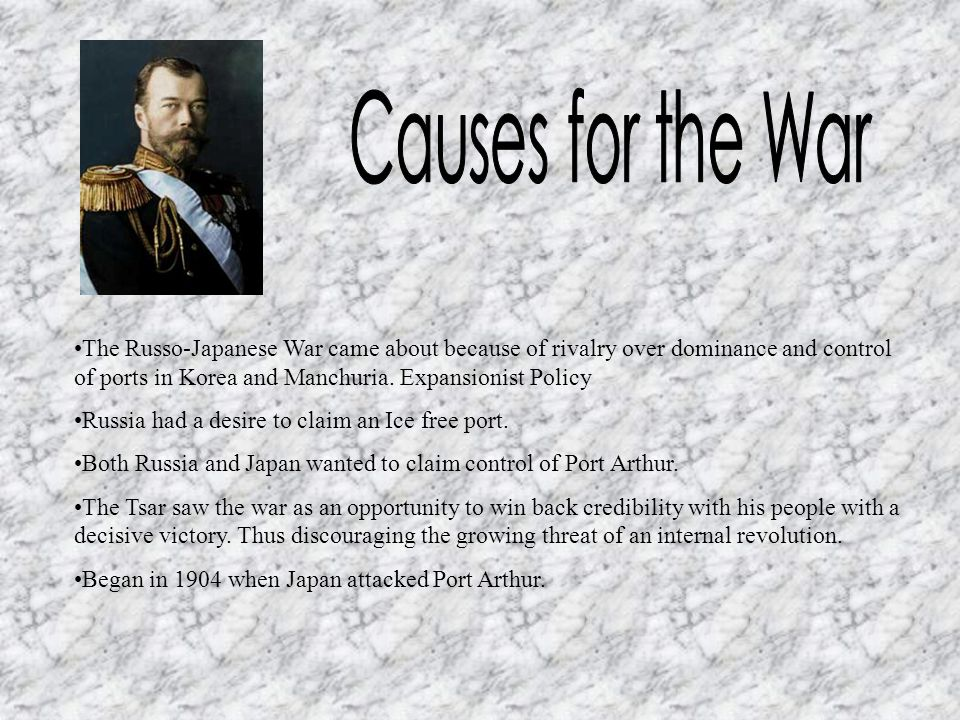 Causes for the War