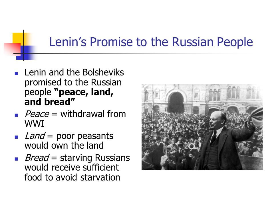 Lenin's Promise to the Russian People