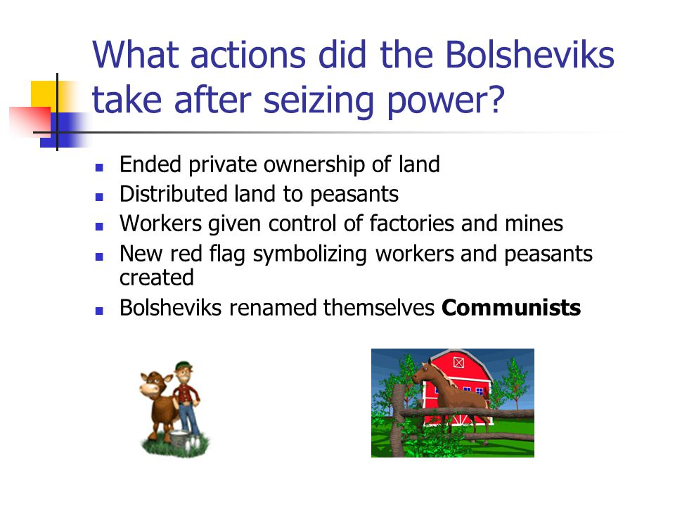 What actions did the Bolsheviks take after seizing power