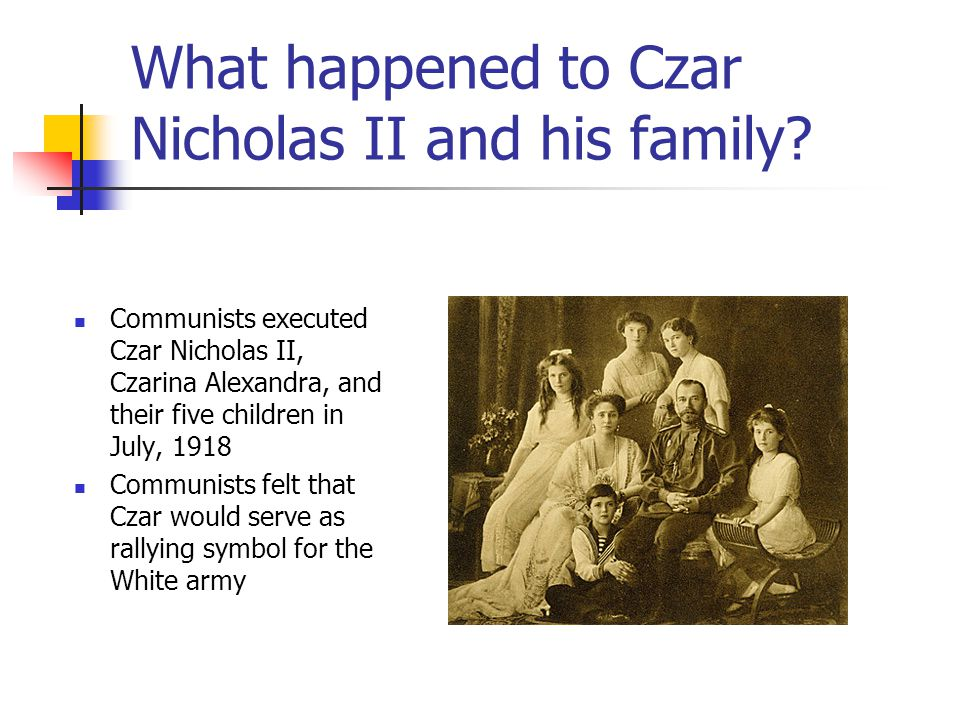 What happened to Czar Nicholas II and his family